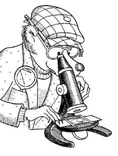 Papa Berenstain Bear Looking At Microscope Coloring Pages Best