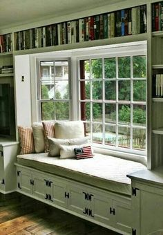 Beautiful reading nook or just watching the sun set