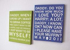 What a cute idea to turn the cute things your kids say into wall art!