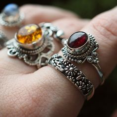 Bohemian jewellery including sterling silver, moonstone, birthstone, and many varieties of crystals. We ship our boho jewellery worldwide from the UK! Bohemian Jewellery, Hippie Jewelry, Handmade Rings, Handmade Jewelry, Sterling Silver Necklaces, Silver Jewelry, Garnet Stone, Jewelry Accessories, Jewelry Making