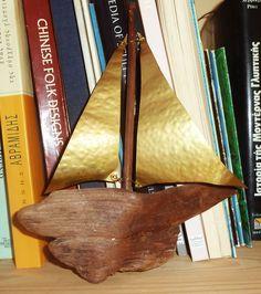 driftwood sail boat