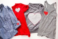 DIY these Valentine's Day shirts with this simple tutorial.