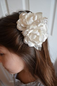 Wedding Comb  Handmade Silk Fabric Flowers by TheVintageCabbgeRose, $15.00