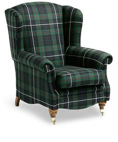 Tartan Armchairs - sc- This would really work well with my (dream) black and white toile accessorized bedroom decor. Scottish Decor, Scottish Plaid, Tartan Chair, Tartan Decor, Tartan Fashion, Hearth And Home, Home And Deco, Tweed, Celtic