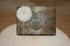 Rustic Ring Bearer Box Shabby Chic Box by KottageInspirations