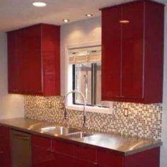 High Gloss red kitchen designed by Dawn Dyer for Atlanta, GA client Dyer Studio www.dyerstudio.com