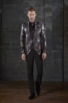 Ideias Fashion, Goth, Leather Jacket, Jackets, Style, Hipster Bride, Bride Groom Dress, Vestidos, Gothic