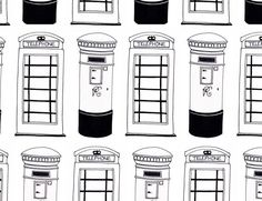 black outline telephone box drawing - Google Search
