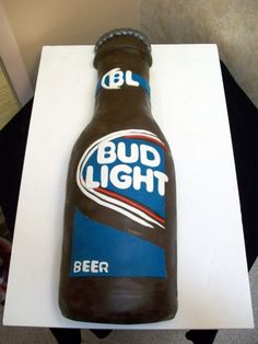 Bud Light Cake By Juliequeen on CakeCentral.com
