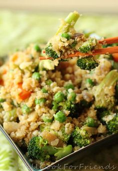 How clever- cauliflower instead of rice! Cauliflower Stir Fry - Will Cook for Friends