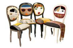 Irina Neacsu Thecraft LAB,, chaises représentant les 4 saisons (l'été à gauche, l'hiver à droite)