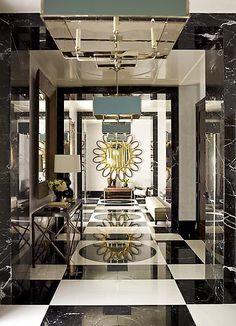 Black + white floor