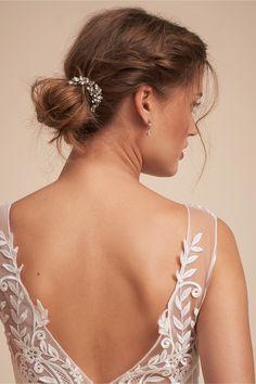 BHLDN's Ti Adoro Brockton Hair Combs (2) in Silver #weddinghairstyles