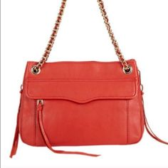 Rebecca Minkoff handbag Like new. Almost never used, maybe once. Fun tangerine color. Rebecca Minkoff Bags Shoulder Bags
