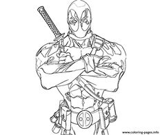 The 21 best DeadPool coloring pages images on Pinterest | Coloring ...