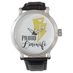 Proud Linewife Black Vintage Leather Watch