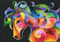 A Horse of Many Colors Painting by Sherry Shipley - A Horse of Many Colors Fine Art Prints and Posters for Sale