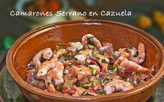 Camarones Serrano en Cazuela #food #comida #alimentos #fishers #gourmet #mexico #delicias