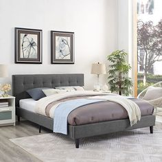 - Info - Colors - Dimensions Inspire sweet dreams with the Lilah Platform Bed. Charmingly designed with grace and distinction, Lilah comes with an upholstered polyester fabric base and tufted headboar
