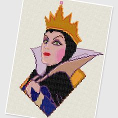 PDF Cross Stitch pattern - 0004.Queen ( Snow White and the Seven Dwarfs ) - INSTANT DOWNLOAD
