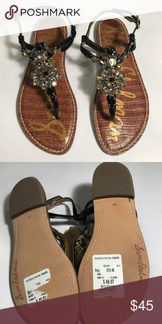 84368d535 NEW Sam Edelman Grayson Jeweled Sandals   Size 7.5 NWOB Sam Edelman Grayson  Jeweled Sandals Women s size 7. 5 Never used. Beautiful sandals with  gorgeous ...