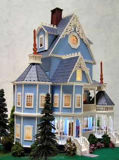 Quarter Scale Bluebell or Ashley Gothic Victorian Dollhouse -Norman's Country Creek