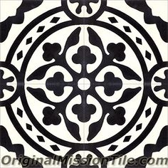 Handmade Tyler II Design cement tile by Original Mission Tile - all cement tiles can be customized to create your own according to your project's specs.
