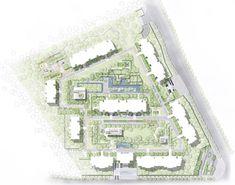 Longfor · Forest – Residential Landscape of Singaporean Style by JTL Studio – mooool Colour Architecture, Landscape Architecture, Landscape Design, Rendered Plans, Plot Plan, Residential Complex, Design Language, Master Plan, Urban Design