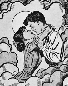 1950s love cartoon drawing. I feel like you would like this :) @Jocelyn Morales