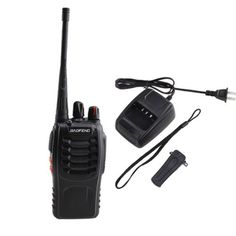 AGPtek® Walkie Talkie 2-Way 16CH 3W Radios Transceiver Handheld Interphone Intercom BF-888S W/built-in 1500MAh Li-ion battery- Support 8 hours by AGPtek. $25.49. This BF-888S Walkie Talkie is a great long range Walkie Talkie (handheld transceiver) for you! It can bring huge convenience for you to communicate with each other in a long range about 6km.   General Product Information: Frequency Range : UHF 400-470MHz Channel Capacity: 16  Channel Spacing: 25KHz Operated...
