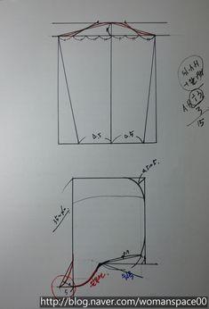 드롭숄더롱티패턴그리기 : 네이버 블로그 Chart, Sewing, Handmade, Study, Patterns, Blog, Dressmaking, Boss, Block Prints