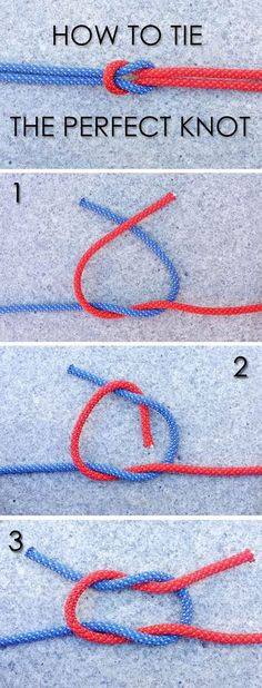We know that tying a secure knot is an important survival skill. Learn how to ti. - - We know that tying a secure knot is an important survival skill. Learn how to ti. Paracord Knots, Rope Knots, Macrame Knots, The Knot, Jewelry Knots, Jewelry Crafts, Jewellery, Survival Tips, Survival Skills
