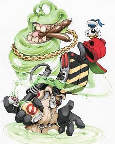 """New print ltd to ONLY 20... """"Listen! Can you smell something?"""" Now available. Link in bio 🚫👻. #cheo #ghostbusters #print"""