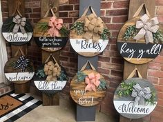 Fall Crafts, Home Crafts, Crafts To Make, Diy Crafts, Wooden Door Signs, Diy Wood Signs, Wooden Wreaths, Craft Night, Wreath Crafts