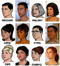 Archer cast and their real life inspiration