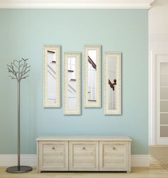 Molly Dawn French Victorian White Mirror Panels