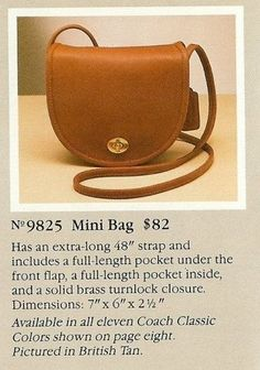 e12edfcbb9 9825 Mini bag. jane cohen · coach bags