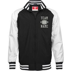 Personalized Football Coach Unisex Team Jacket | Available in other styles & colors.