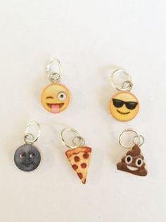 Polymer clay emoji charms face charm emoji by KawaiiCreationz
