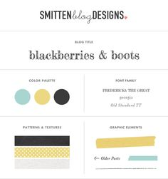 Design Board for Blackberries & Boots by Kendra Treece for Smitten Blog Designs