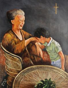 Kiss of respect Philippines Cities, Philippines Culture, Filipino Art, Filipino Culture, Filipino Fashion, Baby Sketch, Philippine Art, Jesus Painting, Historical Art
