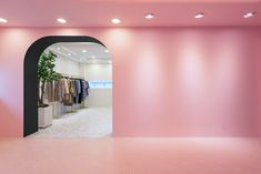 Gallery of A Whimsical Wander Showroom / nooyoon deisgn - 7 Bar Interior, Retail Interior, Interior And Exterior, Commercial Architecture, Interior Architecture, Pink Bar, Pink Tiles, Showroom Design, Pink Mirror