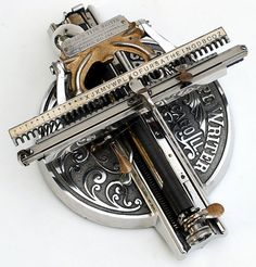 The Odell 2 was one of the most beautiful typewriters of its time. It featured unique Art Nouveau style and a strange index typing mechanism that most people would find too tedious to use today.