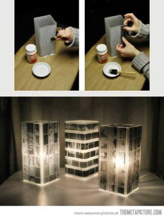 Very simple way of creating amazing lamps…
