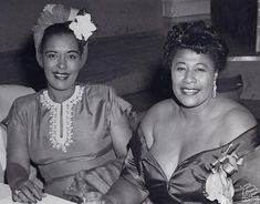 Billie Holiday and Ella Fitzgerald in 1947