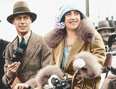 The Duke and Duchess of York, later King George VI and Queen Elizabeth (later Queen Elizabeth the Queen Mother) at the Adelaide Cup in May 1927