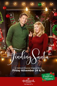 """Its a Wonderful Movie - Your Guide to Family and Christmas Movies on TV: Finding Santa - a Hallmark Channel Original """"Countdown to Christmas"""" Movie starring Jodie Sweetin & Eric Winter! Hallmark Channel, Películas Hallmark, Disney Channel, Films Hallmark, Hallmark Holiday Movies, Family Christmas Movies, Family Movies, Christmas Eve, Christmas Carnival"""