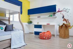 The Maliks' beautiful duplex house has a beautiful blend of colours with optimised storage in every corner. Duplex House, Colours, Elegant, Storage, Bed, Interior, Furniture, Ideas, Design
