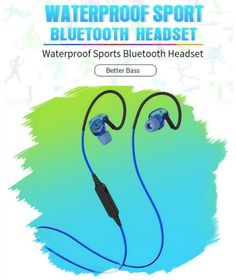 0e9ad640144 PLEXTONE BX240 Bluetooth Headset IPX5 Waterproof Headphones Wireless Sports  Running Stereo Earpiece With Mic for iPhone