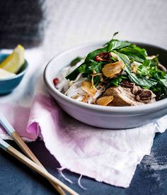Vietnamese-style pork rib broth with lime and herbs - Gourmet Traveller